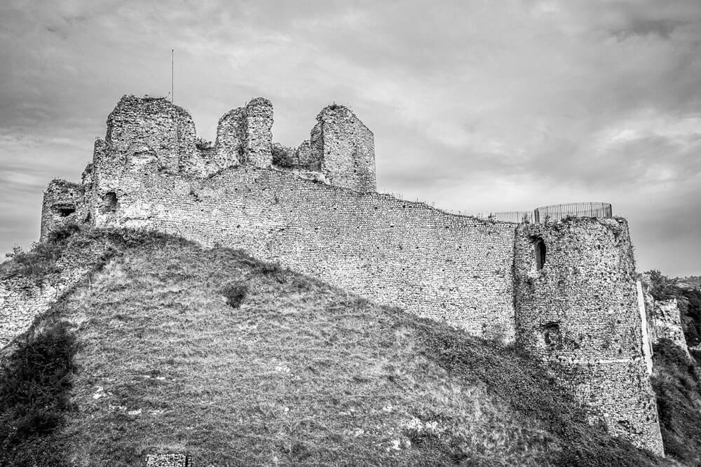 les restes du château d'Arques la bataille