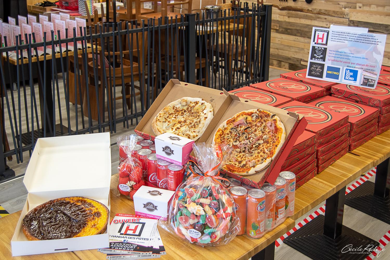 les pizzas, les tartes et les bonbons